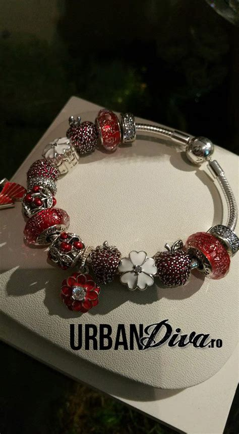 Pav Strawberry Charm P 915 open work enamel with cherries and new pave strawberry the murano looks new pandora summer