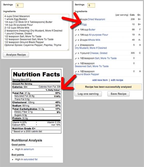 food calculator nutrition facts calculator for recipes nutrition ftempo