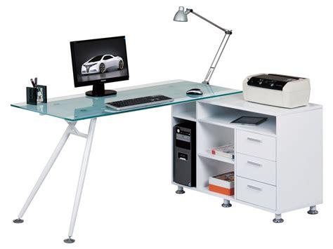 Frosted Glass Computer Desk Alphason Aw13366a Cl Desks