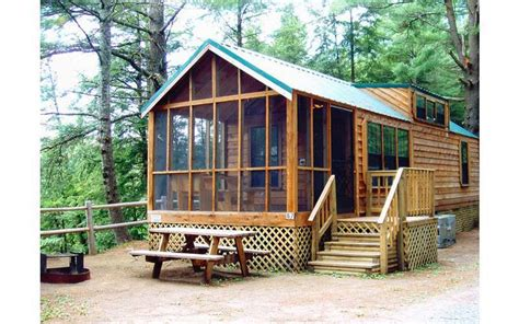 Cgrounds With Rental Cabins by Schroon River Escape Lodges Rv Resort A Scenic Lake