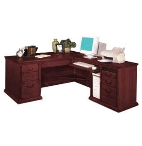 L Shaped Desk With Right Return L Shaped Office Desk W Right Return In Cherry Mac 684rc Office Desks