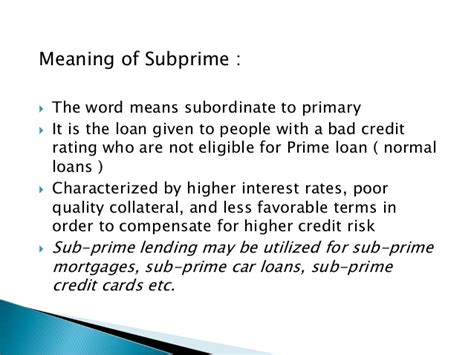 meaning of comfortable in hindi subprime crisis brief