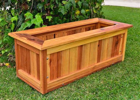 wooden planter plans pdf redwood planter plans free