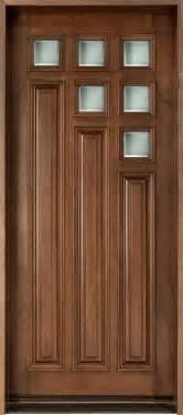 Single Door Doors Front Door Custom Single Solid Wood With Walnut Finish