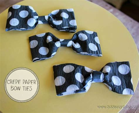How To Make Paper Bow Tie - how to make crepe paper bow ties painted confetti