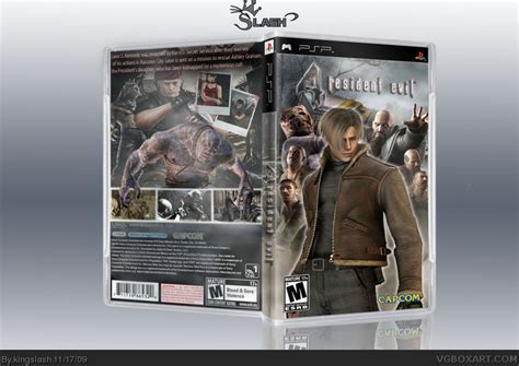 theme psp resident evil resident evil 4 psp edition psp box art cover by kingslash