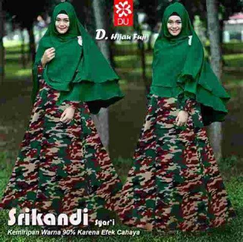 Gamis Ayra Syari Hijau Army baju gamis modern srikandi army model busana muslim