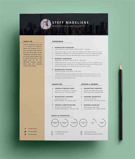 Free Graphic Resume Templates by 20 Free Cv Resume Templates Psd Mockups Freebies