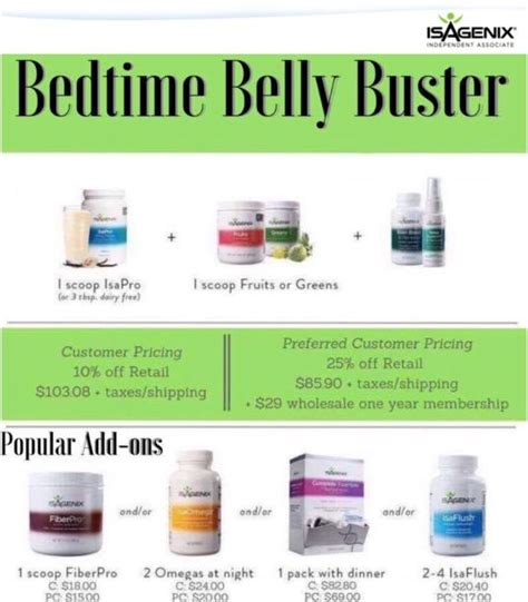 Bedtime Belly Detox by What Is The Isagenix Bedtime Belly Buster Isagenix