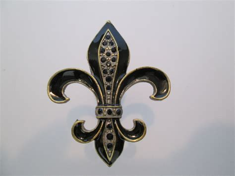 fleur de lis drawer pulls black and bronze