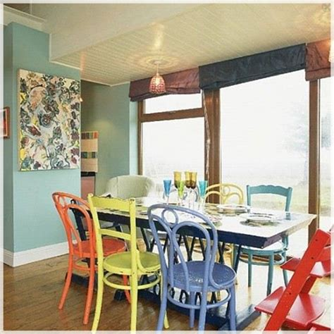 Facing Dining Room Colors 10 Ideas Decorate Dining Room With Mixed Dining Chairs Mix