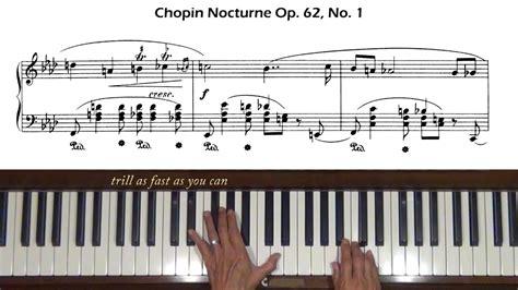 Chopin Nocturne Op 62 No 1 Piano Tutorial Youtube | chopin nocturne op 62 no 1 piano tutorial youtube
