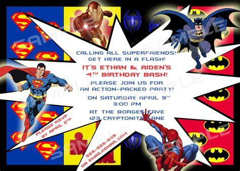 superhero birthday invitations gangcraft net