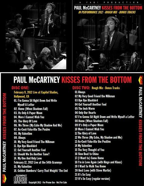 paul mccartney kisses   bottom  cd  studio