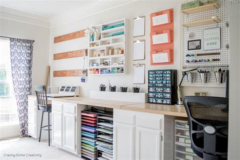 Creative Thrifty Small Space Craft Room Organization Craft Desk Organization Ideas