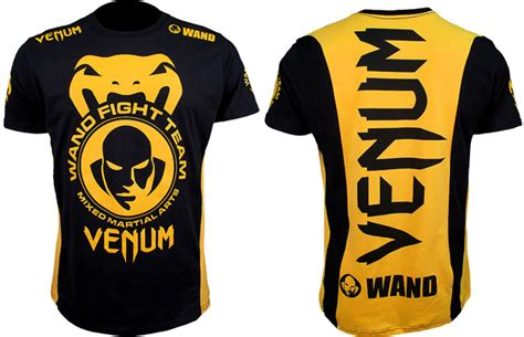 Venum Fight Team Shirt Black venum wand fight team shockwave t shirts