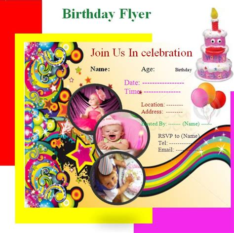 invitation flyers for kids party invitations ideas