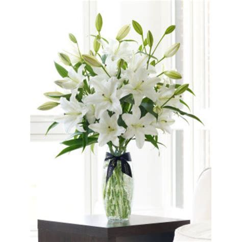 Lilies In A Vase by Luxury Vase