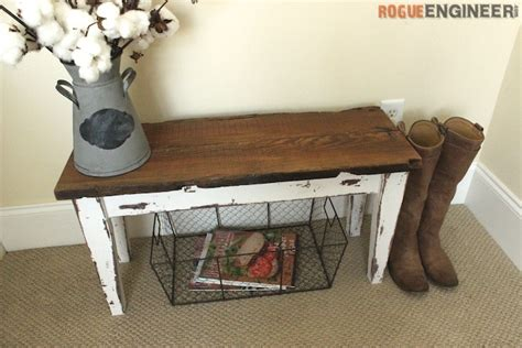 diy entrance bench small entry bench free diy plans rogue engineer