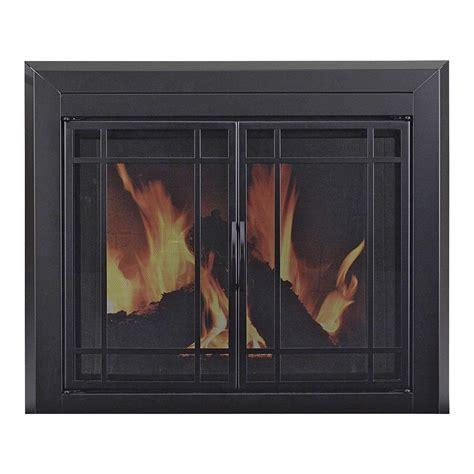 glass fireplace door pleasant hearth easton fireplace glass door for masonry