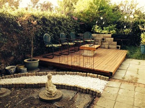 how to build a backyard deck wood pallet backyard deck 4 steps with pictures