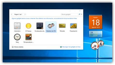 install windows 10 gadgets c 243 mo habilitar los gadgets de escritorio en windows 10
