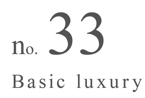 No Basic by Collectie No 33 Basic Luxury