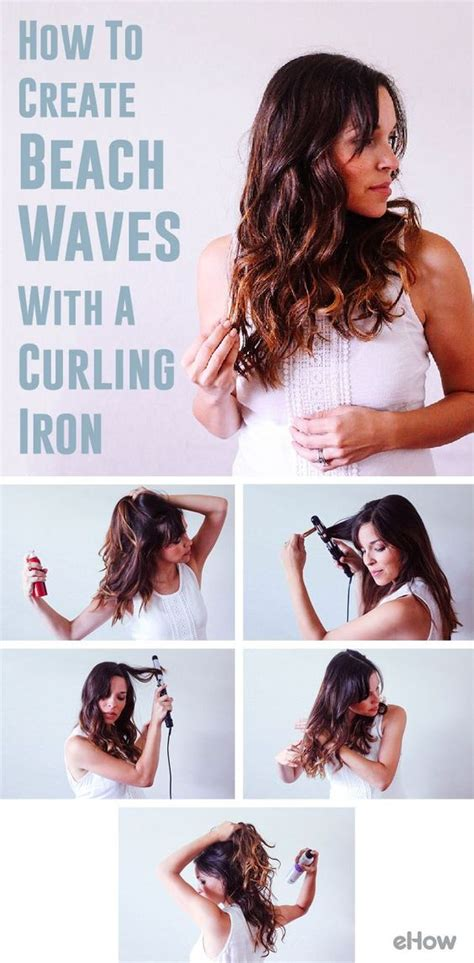 how to use straightner to get beach waves of shoulder length hair how to make beach waves with a curling iron summer