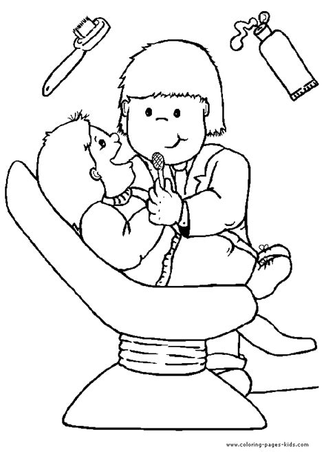 Career Day Coloring Pages Dentist Color Page A Career A Passion Pinterest by Career Day Coloring Pages