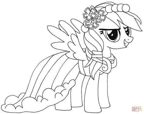 rainbow dash dress coloring page rainbow dash coloring page free printable coloring pages