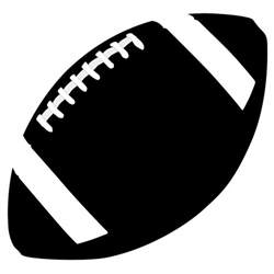 Football Laces Outline by Football Outline Clip Cliparts Co