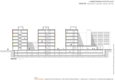 section 7 1 b gallery of post site aalst abscis architecten 15