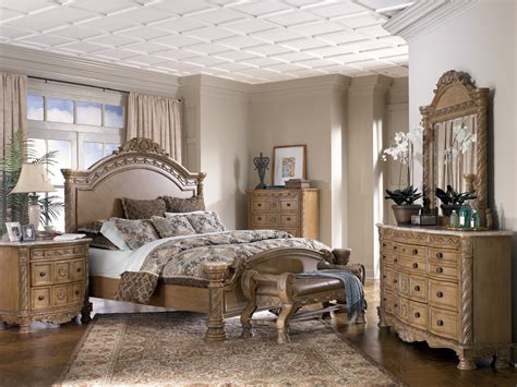 ashley north shore bedroom set ashley furniture north shore sleigh bedroom set in dark