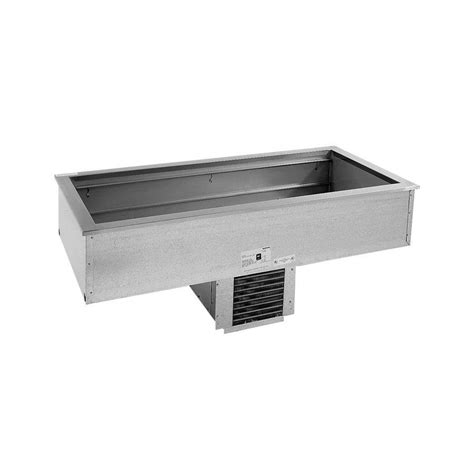 drop in refrigerated topping bar delfield n8156b four 4 12 quot x 20 quot pan drop in