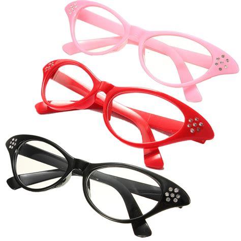Frame Fashion Wanita 5 vintage retro eyeglasses frame fashion cat eye clear lens eye glasses ebay