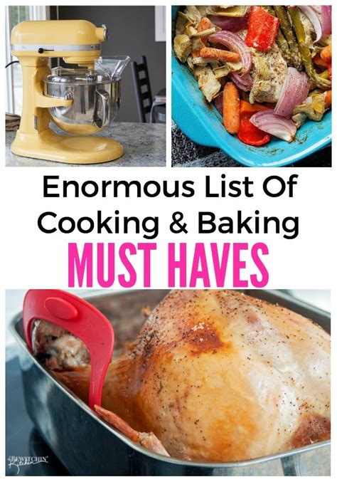 Food Must Haves In Kitchen List Of Cooking And Baking Must Haves Tbk