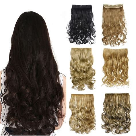 Hairclip Wavy 40 50cm 50 colors curly clip in hair extensions wavy hairpieces 50cm 20inch high temperature