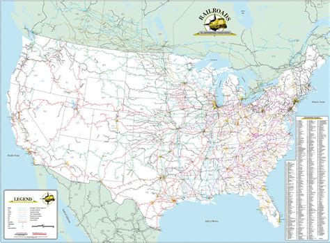 railroad map usa deskmap systems printed railroad maps geographical