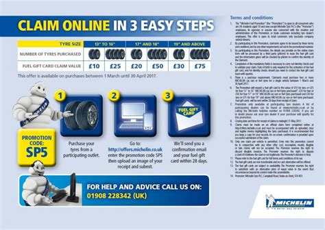 Michelin Fuel Gift Card - michelin fuel gift card offer ian brown tyres