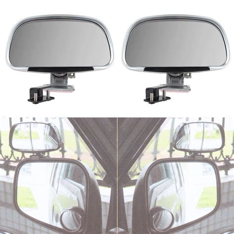 Bindspot Wide View Car Mirror 2x universal car blind spot side rear view mirror wide angle mirrors silver new ebay