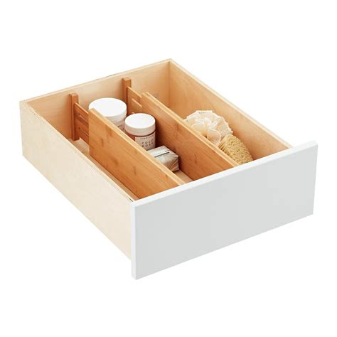 deep drawer organizer bathroom bamboo deep drawer organizers the container store