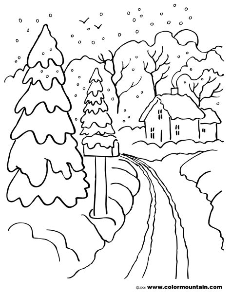 coloring book pages winter free coloring pages of mountain scenery