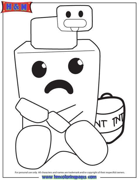 minecraft coloring pages baby pig minecraft baby pig coloring pages