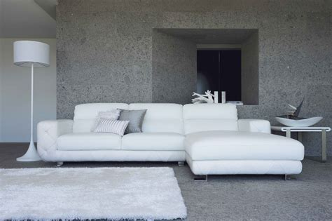 0680 modern white leather sectional sofa