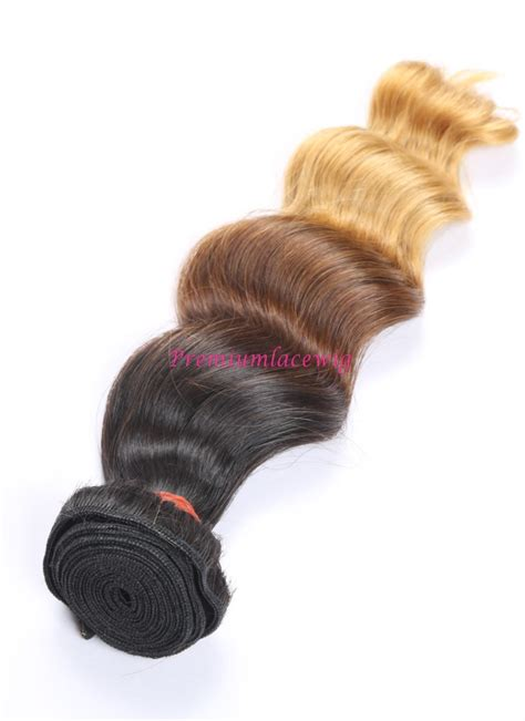 16 inch ombre t1b427 loose wave brazilian human hair bundles