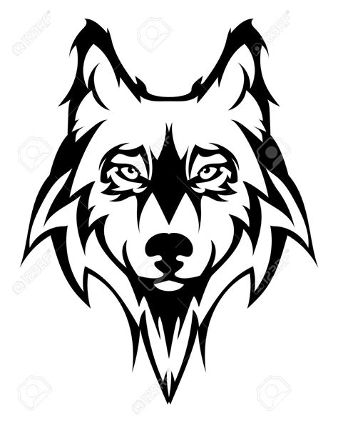 tattoo cartoon face wolf face clipart free download best wolf face clipart