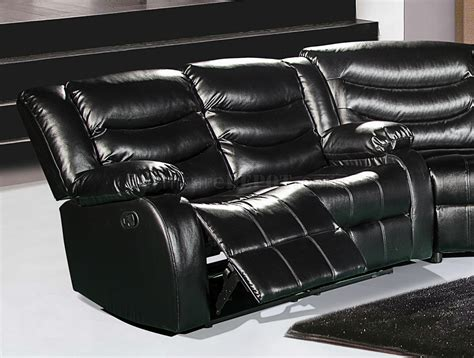 Leather Motion Sectional Sofa Gramercy 644 Motion Sectional Sofa In Black Bonded Leather