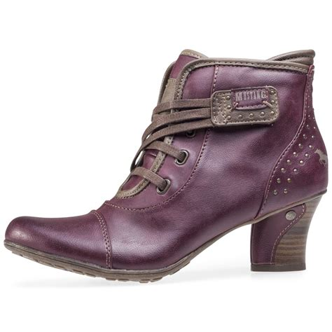 in boots mustang stripe ankle boot womens ankle boots in burgundy