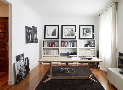 Monochromatic Color Scheme by 30 Black And White Home Offices That Leave You Spellbound