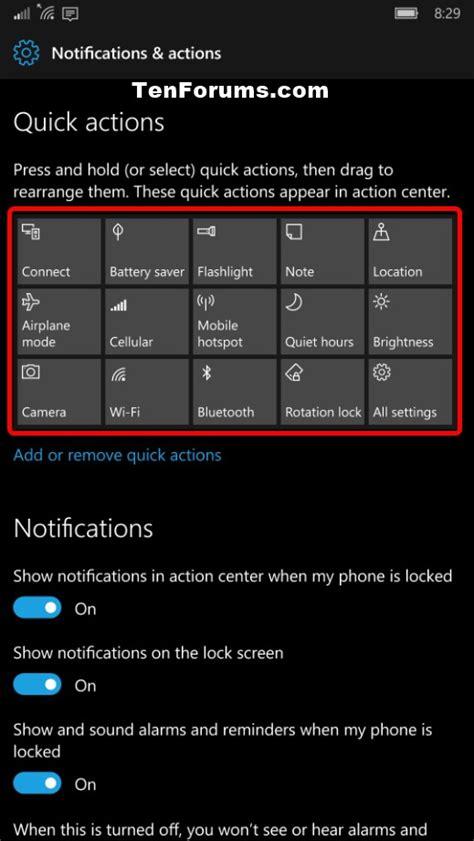windows 10 quick tutorial action center quick actions rearrange in windows 10